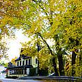 The Yardley Inn In Autumn by Bill Cannon