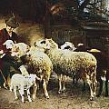 The Young Shepherd by Heirich von Zugel
