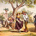 The Zapateado - National Dance, 1840 by Federico Mialhe