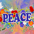 Themes Of The Heart-peace by Teresa Ascone
