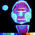Thermogram Of Face Prior To Taking Alcoholic Drink by Science Photo Library