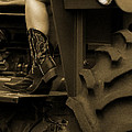 These Boots 1 Sepia by Sarah Lamoureux