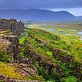 Thingvellir National Park Rift Valley by Alexey Stiop