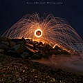 This Is A Shot Of Me Spinning Burning by Larry Marshall