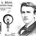 1880 Thomas Edison Electric Lamp Patent Art 2 by Nishanth Gopinathan