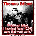 Thomas Edison On Failure by K Scott Teeters