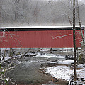 Thomas Mill Covered Bridge Along The Wintery Wissahickon by Bill Cannon