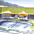 Three Amigos Poolside by Kip DeVore