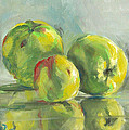 Three Apples by Synnove Pettersen
