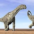 Three Argentinosaurus Dinosaurs by Elena Duvernay