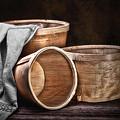 Three Basket Stil Life by Tom Mc Nemar
