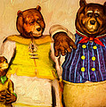 Three Bears Family Portrait by Bob Orsillo