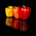 Three Bell Peppers by Jim Hughes