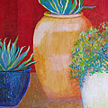 Three Bright Pots by Sharon Nelson-Bianco