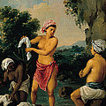 Three Caribbean Washerwomen By A River by Agostino Brunias