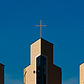 Three Crosses Of Livingway Church  by Ed Gleichman