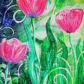 Three Dancing Tulips by Jan Marvin
