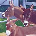 Three Donkeys by Natalie Rotman Cote