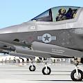 Three F-35b Lightning IIs At Marine by Riccardo Niccoli