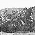 Three Flatirons Boulder Colorado Black And White by James BO  Insogna