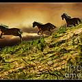 Three Horse's On The Run by Blake Richards