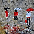 Three In The Rain by Pol Ledent