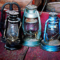 Three Kerosene Lamps by Susan Savad