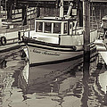 Three Little Boats Sepia by Scott Campbell