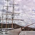 Three Mast Sail Boat by Linda Phelps