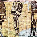 Three Microphones On Map by William Cauthern