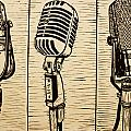Three Microphones by William Cauthern