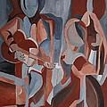 Three Musicians by Barbara Moak