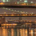 Three New York Bridges by Clarence Holmes