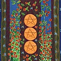 Three Of Pentacles by Sushila Burgess