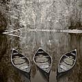Three Old Canoes by Debra and Dave Vanderlaan