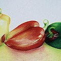 Three Peppers by Jean Cormier
