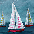 Three Sailboats by Linda Woods