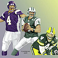 Three Stages Of Bret Favre by Thomas J Herring