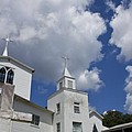 Three Steeples On Historic Florida Church by Toni Hopper