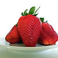 Three Strawberries by Julie Palencia