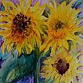 Three Sunflowers by Beverley Harper Tinsley