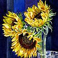 Three Sunny Flowers by Irina Sztukowski