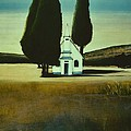 Three Trees And A Church by Diane Strain