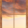 Three Trees Sunrise Barn Wood Picture Window Frame View by James BO  Insogna