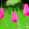 Three Tulips - Painting Like by James Scott Preston