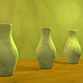 Three Vases II by Gabiw Art