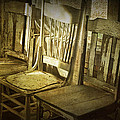 Three Vintage Wooden Chairs by Randall Nyhof