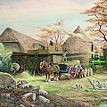 Threshing In Kent by Dudley Pout
