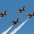 Thunderbirds Diamond Flyover by John Daly