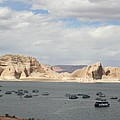 Thunderstorm Atmosphere Over Lake Powell by Christiane Schulze Art And Photography